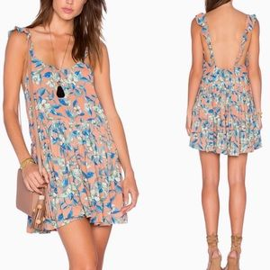 Free People Dear You Floral Ruffle Dress_S